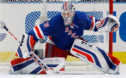 The Rangers are thankful for Lundqvist's improved form (AP Photo/Julie Jacobson)