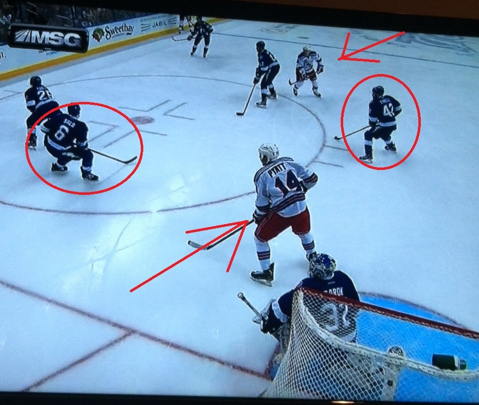 Pyatt in front, no cover by Salo. Tyrell in No Man's Land.
