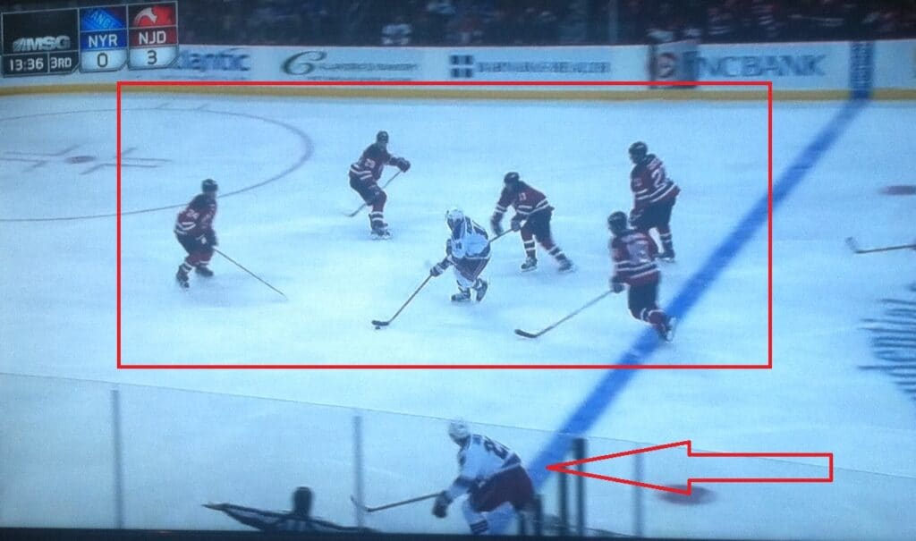 Folks, there's more than 1 Ranger on the ice.