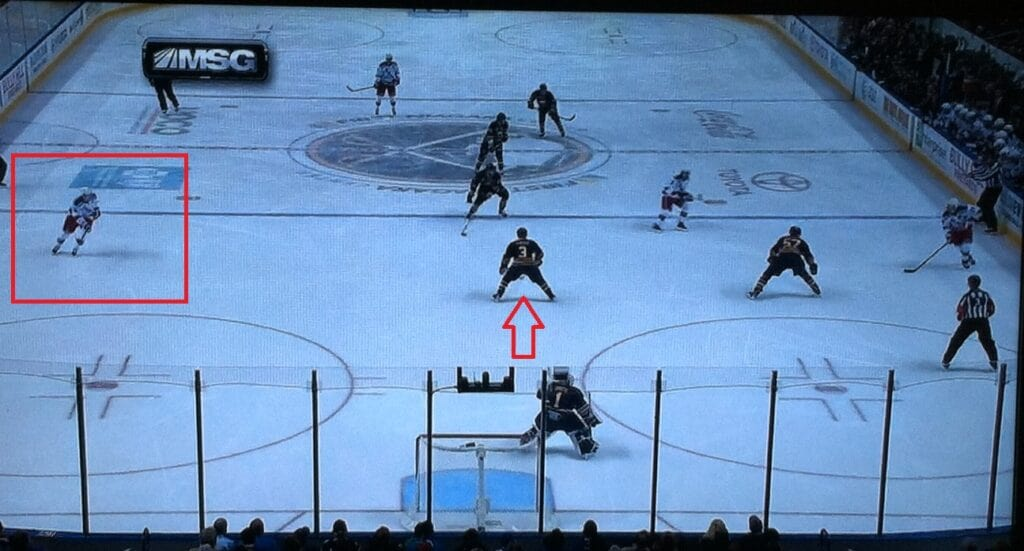 That's Stepan out there, he's not going for a beer.