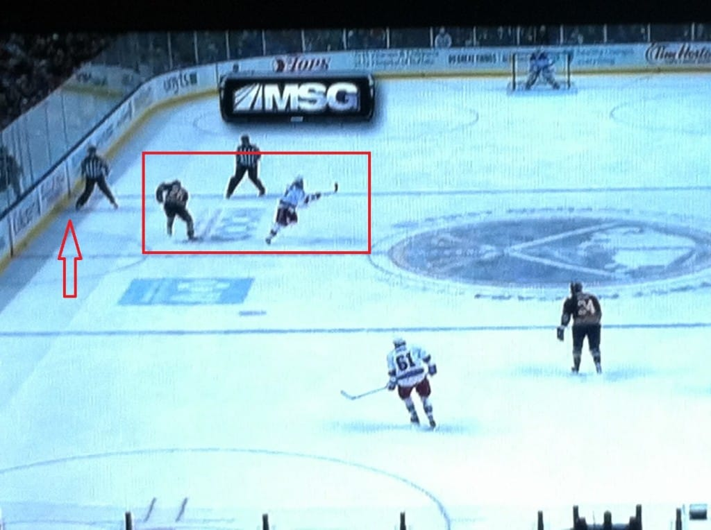 Pominville pass turned Girardi around. Gave Vanek room.