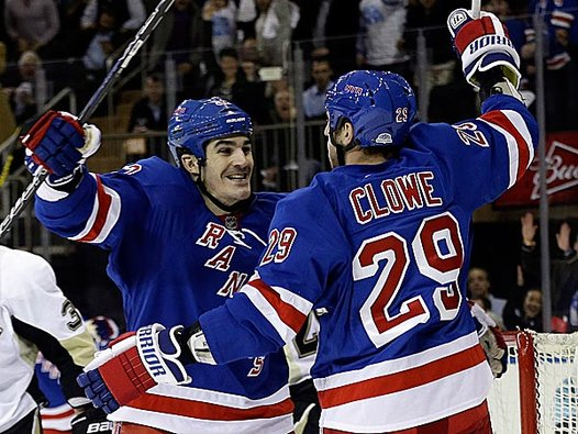 Is Ryane Clowe less likely to re-up with the Rangers because of AV?