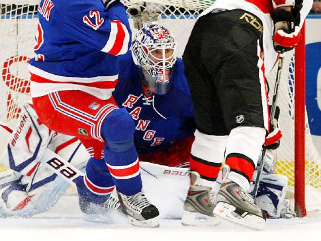 Lundqvist: must do better. (Bennett/Getty)