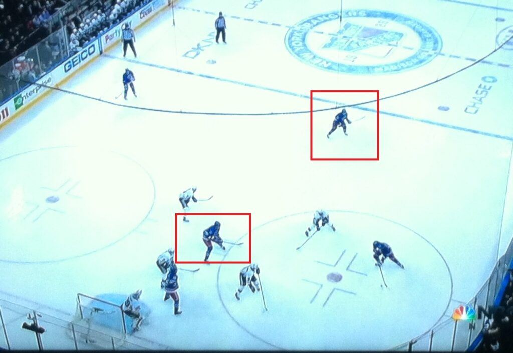 Wide open. Screen. Deflection. Goal.