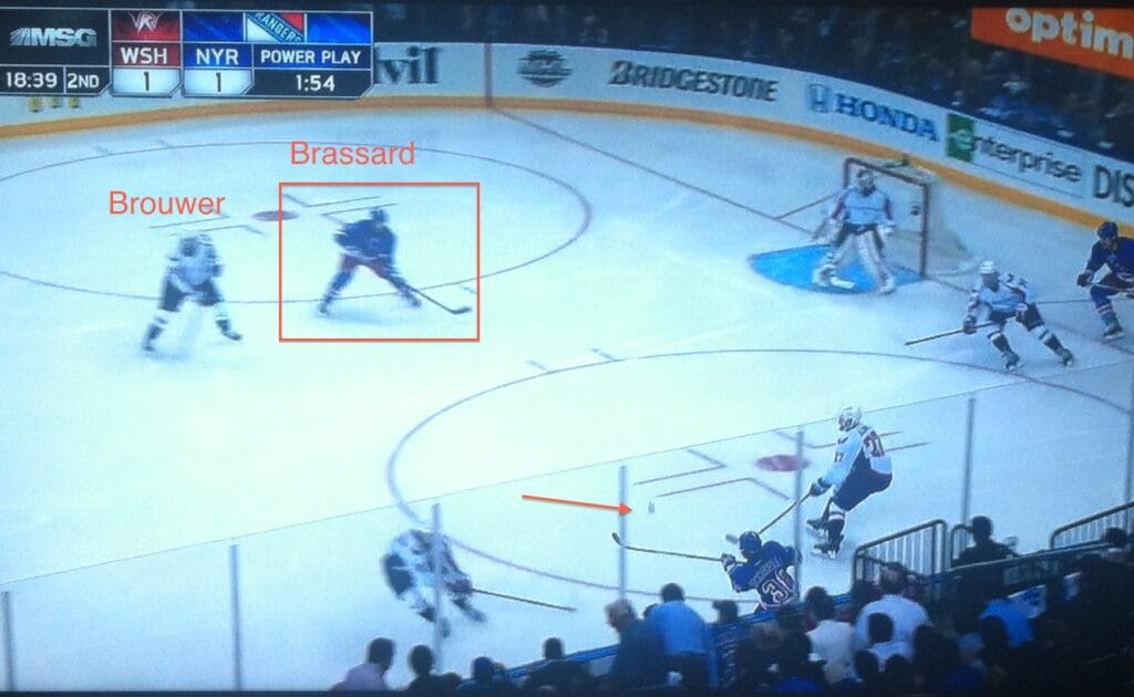 Cut to open ice, great pass.