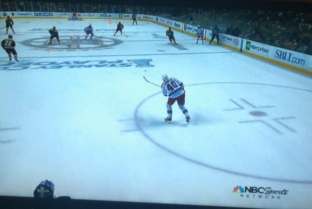 Five Bruins in the picture, three around the pass. Bad idea.