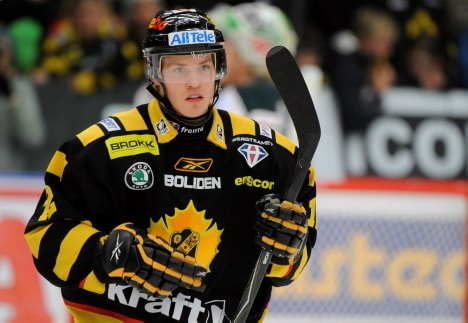 Oscar Lindberg, fast becoming a top prospect for the Rangers.