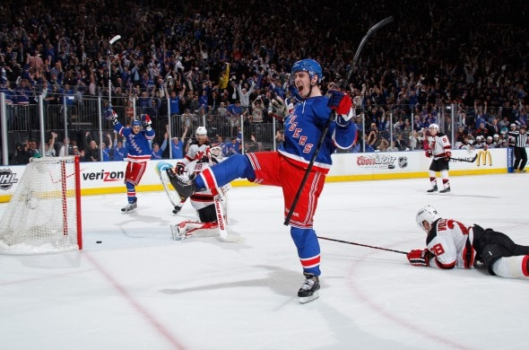 Kreider is getting his chance on the top line (Image: Boston Herald)