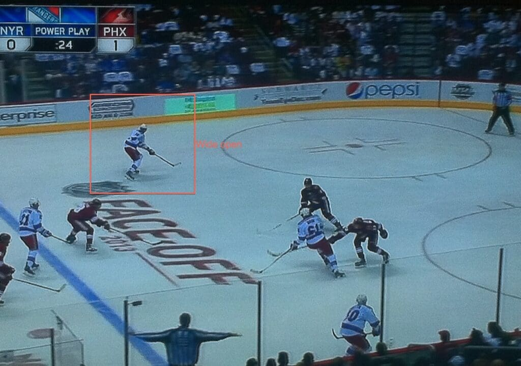This is what Rick Nash does. He draws attention.