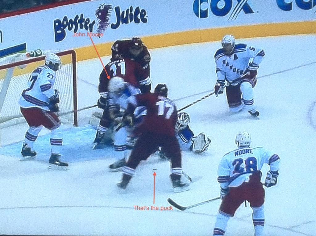 That's just unlucky for Moore, who was all over Vrbata.
