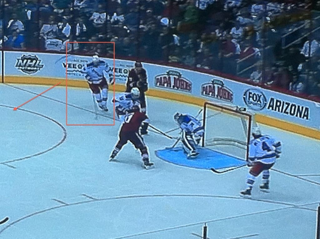 Nash just leaves Vrbata to crash the net.