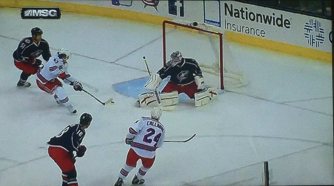 Two different CBJ players beat on this goal.