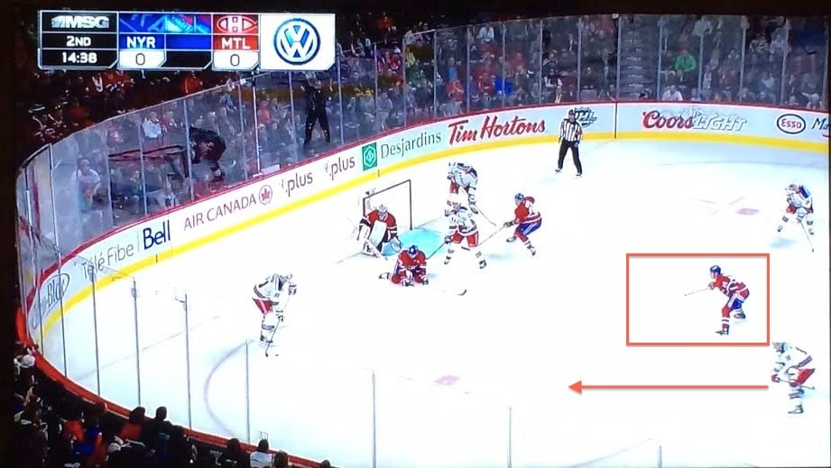 Plekanec makes right choice, but Richards scores anyway.