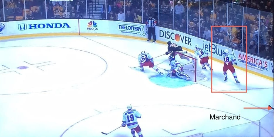 Two guys behind the net is never a good thing.