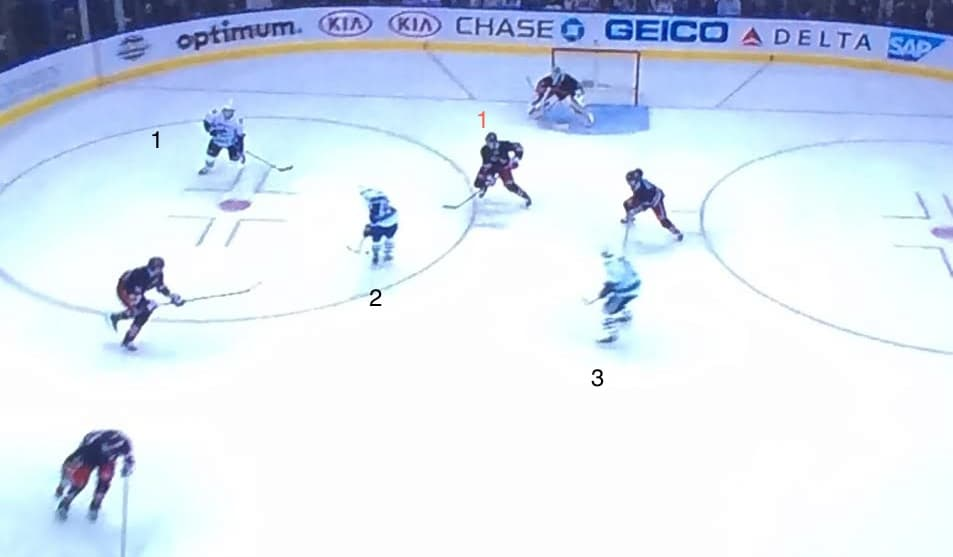 Great passing by the Canucks here.