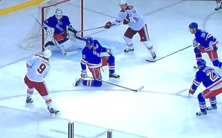 Bad angle, no challenge from Talbot. Ugh.