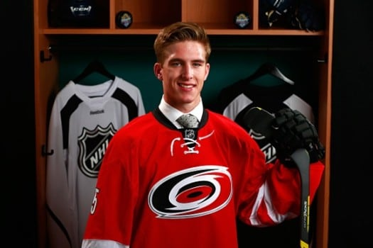 First-round pick Noah Hanifin joins a talented group of young defensemen