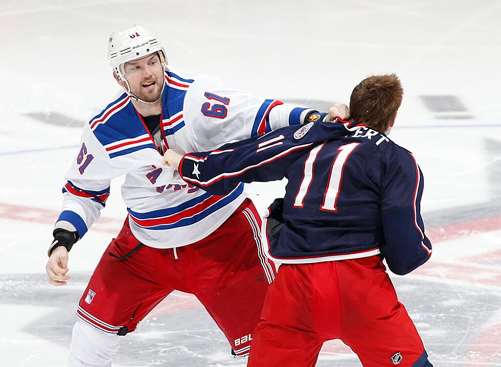 rangers blue jackets rick nash