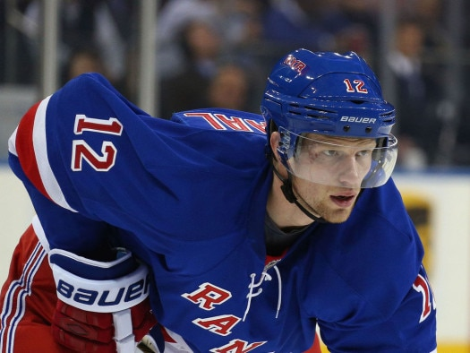 Eric Staal has three goals and two assists with the Rangers