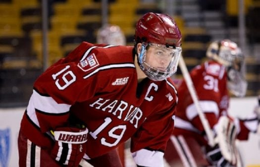 Jimmy Vesey won the Hobey Baker Award with 46 points (24 goals, 22 assists) as a senior