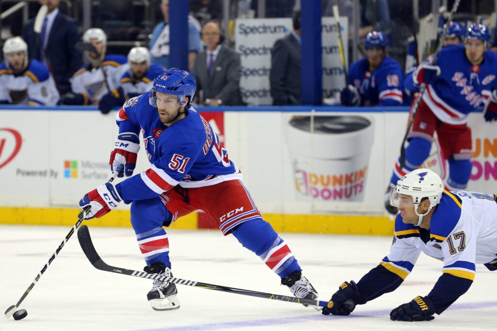 david desharnais rangers blues
