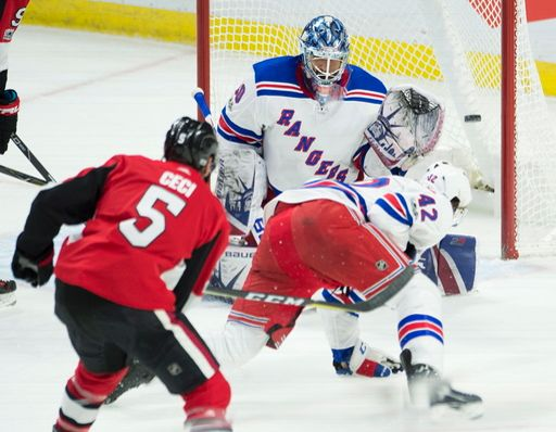 Photo of Henrik Lundqvist a finalist for the King Clancy Trophy