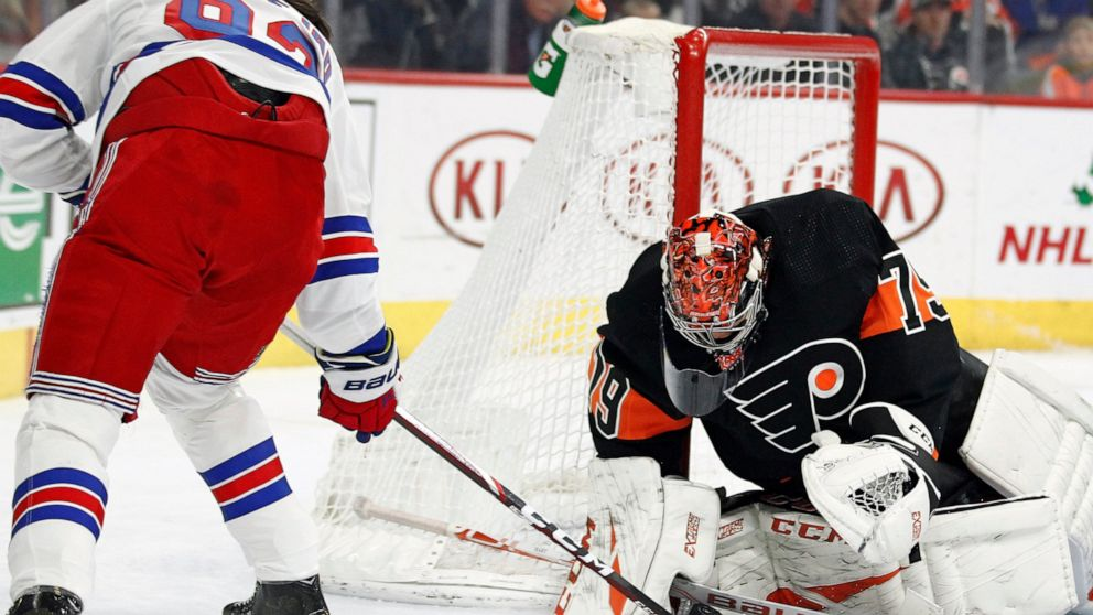 Blowouts catch up with Rangers, no-show against Flyers in loss