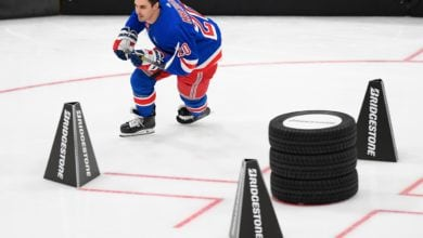 Photo of Chris Kreider finishes third in NHL's fastest skater