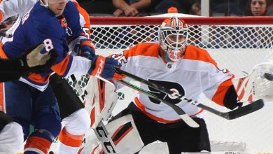 "Photo of Rangers ""trade"" goalie Tom McCollum, forward Lewis Zerter-Gossage to Flyers"