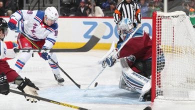 Photo of Rangers tie it late, but can't get the second point in Colorado.