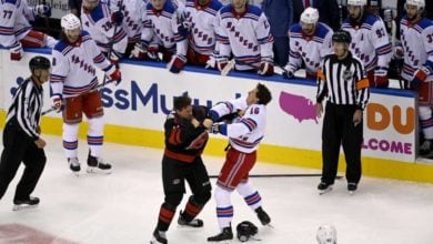 Photo of Canes top Rangers as special teams control sloppy Game 1