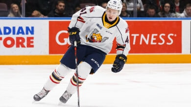 Photo of NY Rangers trade up in 5th round, select Evan Vierling