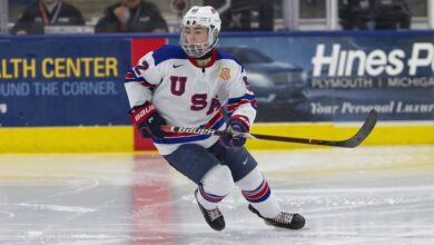Photo of NY Rangers select Brett Berard with additional 5th round pick